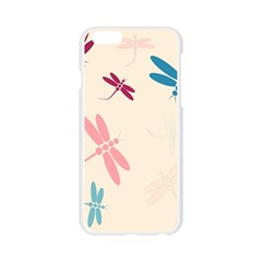 Pastel dragonflies  Apple Seamless iPhone 6/6S Case (Transparent)