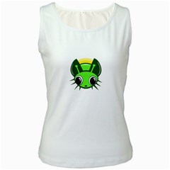 Transparent firefly Women s White Tank Top