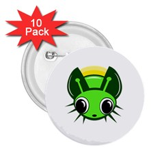 Transparent firefly 2.25  Buttons (10 pack)