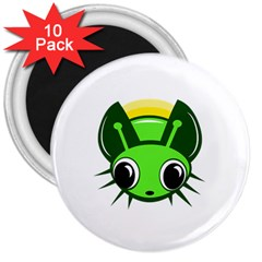 Transparent firefly 3  Magnets (10 pack)