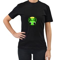 Transparent firefly Women s T-Shirt (Black) (Two Sided)