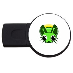 Transparent firefly USB Flash Drive Round (4 GB)