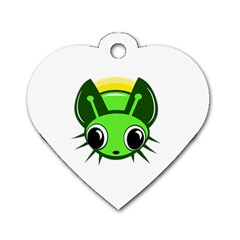 Transparent firefly Dog Tag Heart (Two Sides)