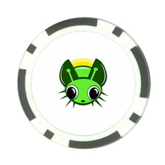 Transparent firefly Poker Chip Card Guards