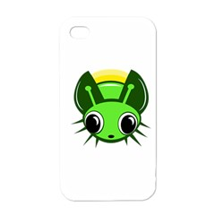 Transparent firefly Apple iPhone 4 Case (White)