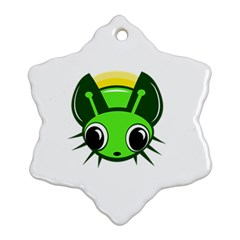 Transparent firefly Snowflake Ornament (2-Side)