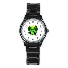 Transparent firefly Stainless Steel Round Watch