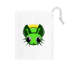 Transparent firefly Drawstring Pouches (Large)