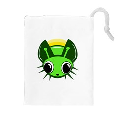 Transparent firefly Drawstring Pouches (Extra Large)