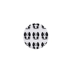 Black and white fireflies patten 1  Mini Buttons