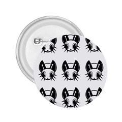 Black and white fireflies patten 2.25  Buttons