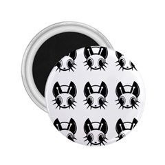 Black and white fireflies patten 2.25  Magnets