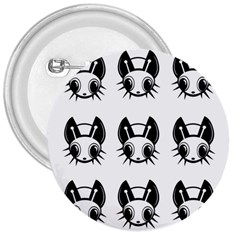 Black and white fireflies patten 3  Buttons