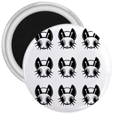 Black and white fireflies patten 3  Magnets