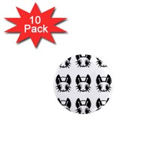 Black and white fireflies patten 1  Mini Magnet (10 pack)
