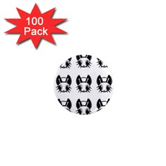 Black and white fireflies patten 1  Mini Magnets (100 pack)