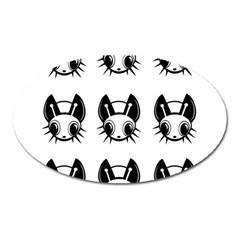 Black and white fireflies patten Oval Magnet
