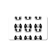 Black and white fireflies patten Magnet (Name Card)