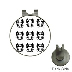 Black and white fireflies patten Hat Clips with Golf Markers
