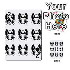 Black And White Fireflies Patten Playing Cards 54 Designs