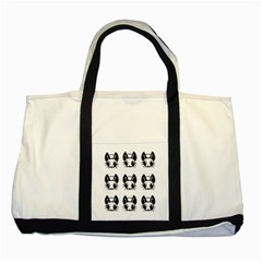 Black and white fireflies patten Two Tone Tote Bag
