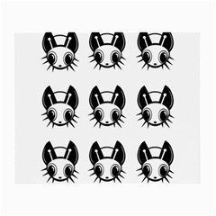 Black and white fireflies patten Small Glasses Cloth (2-Side)