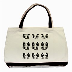 Black and white fireflies patten Basic Tote Bag (Two Sides)