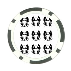 Black and white fireflies patten Poker Chip Card Guards