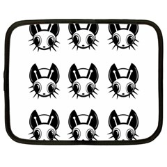 Black and white fireflies patten Netbook Case (Large)