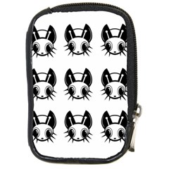 Black and white fireflies patten Compact Camera Cases