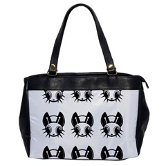 Black and white fireflies patten Office Handbags