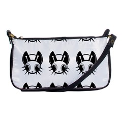 Black and white fireflies patten Shoulder Clutch Bags
