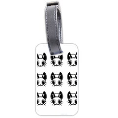 Black and white fireflies patten Luggage Tags (One Side)