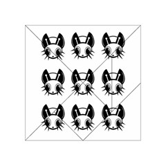 Black and white fireflies patten Acrylic Tangram Puzzle (4  x 4 )