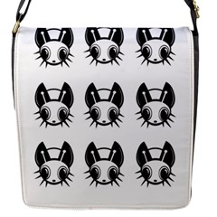 Black and white fireflies patten Flap Messenger Bag (S)