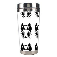 Black and white fireflies patten Stainless Steel Travel Tumblers