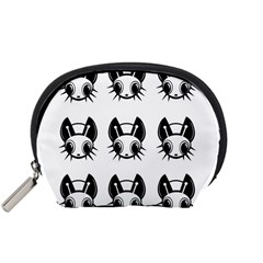 Black and white fireflies patten Accessory Pouches (Small)