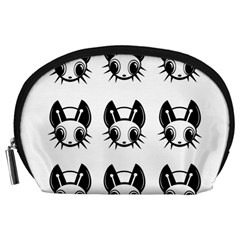 Black and white fireflies patten Accessory Pouches (Large)