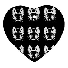 White and black fireflies  Ornament (Heart)