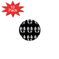 White and black fireflies  1  Mini Buttons (10 pack)