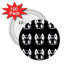 White and black fireflies  2.25  Buttons (100 pack)