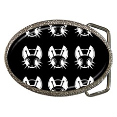 White and black fireflies  Belt Buckles