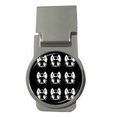 White and black fireflies  Money Clips (Round)