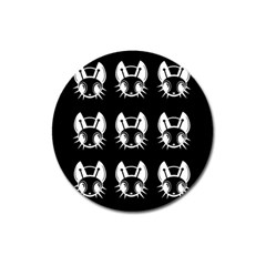 White and black fireflies  Magnet 3  (Round)