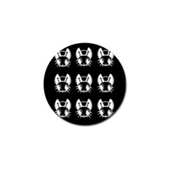 White and black fireflies  Golf Ball Marker (4 pack)