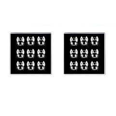 White and black fireflies  Cufflinks (Square)
