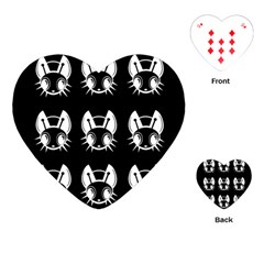 White and black fireflies  Playing Cards (Heart)