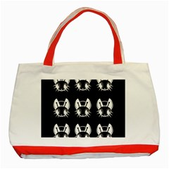 White and black fireflies  Classic Tote Bag (Red)