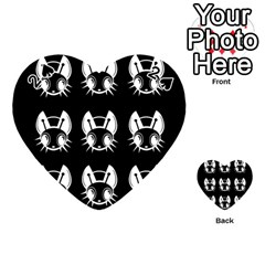 White and black fireflies  Playing Cards 54 (Heart)