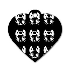 White and black fireflies  Dog Tag Heart (One Side)